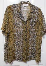 Ladies Sussan Leopard print Blouse short sleeve size LARGE
