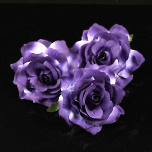 """4"""" 10Pcs Artificial Rose Large Fabric Rose Flower Heads For Wedding Home Decor"""