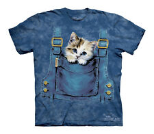 """NEW - The MOUNTAIN T-Shirt-"""" Kitty Overalls"""" Child's XL"""