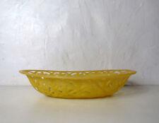 corbeille panier à pain fruits plastique jaune vintage