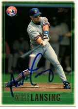 Mike Lansing Montreal Expos 1997 Topps Signed Card
