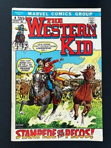 WESTERN KID #4 MARVEL COMICS 1972 FN/VF
