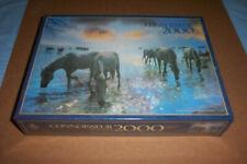 """(NEW) ARROW 'CONNOISSEUR' 2000 PIECE JIGSAW: """"HORSES OF THE CAMARGUE"""" (BNIC)"""