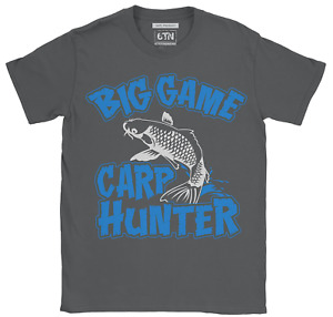 Carp fishing t shirt Big Game Hunter funny fishing t shirts uk