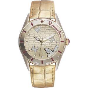 Orologio Donna BRACCIALINI BRD 401/1CO Pelle Gold Dorato Farfalle Glitter