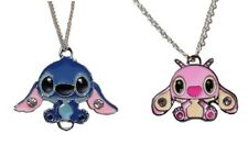 Lilo & Stitch Stitch and Angel 2 Pendant Chain Necklace Set