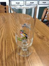 """New listing Vtg Ned Smith Glass Pitcher 9"""" Marked American Widgeon & Wood Duck Design"""