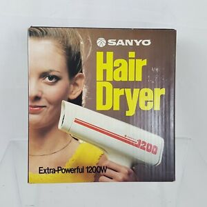 New Old Stock Vintage Sanyo 1200 Hair Dryer Very Cool Rare