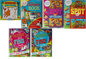 Kids Puzzle Books, Activity, Spot the Difference, Search and Find, Colouring,