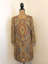 J. Crew Collection Dress Shift Jules Italian Paisly Silk Front Pockets 00 Orange