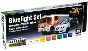 AV Vallejo Model Air  - Bluelight Set (x8) Airbrush Paint Set VAL71154