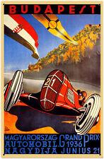 Budapest Grand Prix 1936  Metal Sign