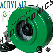"Active Air 8"" inch Inline Fan - Duct, Blower, Ventilation Fan 720 CFM  Hydrofarm"