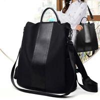Women Anti-Theft Waterproof Nylon Backpack Rucksack Purse Lightweight School Bag
