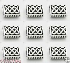 25 x Celtic Knot Spacer Beads - Oblong Spacers 5.5mm