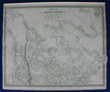 BRITISH NORTH AMERICA, GREENLAND, HUDSON BAY, original antique map SDUK 1844