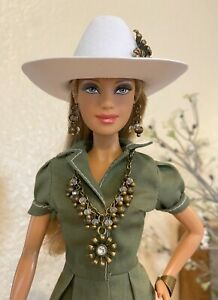 Handmade Jewelry & Accessories for Barbie - Bronze and Crystals Jewelry and Hat