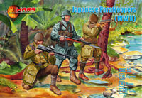 MARS 32019 1/32 WWII JAPANESE PARATROOPERS 15 Unpainted Plastic Toy Soldiers