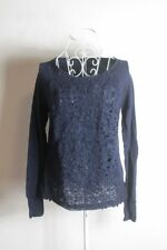 Ladies 'Unbranded' M Navy Long Sleeve Blouse! Perfect Condition! Bargain!