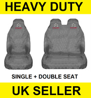 GREY CITROEN Van Seat Covers Protectors 2+1 100% WATERPROOF HEAVYDUTY - Relay