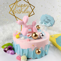 Cute Balloon Dog Resin Crafts Sculpture Gifts Cake Baking Party Dessert Ornam FE
