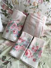 Stevens Queen Sheet Set ~ Roses & Stripes ~ Vintage