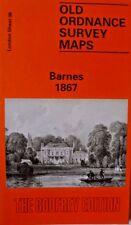 Old Ordnance Survey Map Barnes near Putney London 1867 Sheet 98 Brand New Map