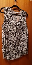 Miller's Black And White Top Size 18 New With Tags RRP $28 zip front