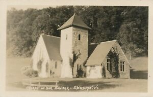 SHERBURNE VT – Church of Our Saviour Real Photo Postcard rppc