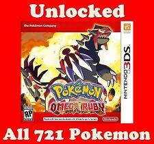 Nintendo 3DS Pokemon Omega Ruby Game with All 721 Non Shiny Pokemon Unlocked
