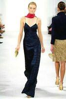 Ralph Lauren Collection Purple Label 2006 Long Maxi Dress Runway Gown IT 42 US 6