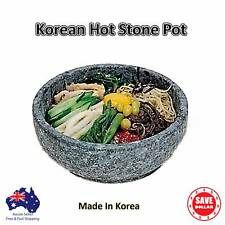 Natural Korean Stone Bowl Hot Pot Dolsot Bibimbap Cooking RICE Granite 19cm