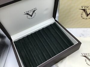 Visconti 10x Pen Display Chest Forest Dark Green Interior w/ Box and Dust Bag