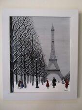 """Gabriel Donnet  """"Les promeneurs du Champs-de-Mars et la tour Eiffel"""" -  naïf -"""