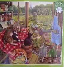 1000 PIECE OTTER HOUSE JIGSAW PUZZLE ALLOTMENT CATS ! NEW