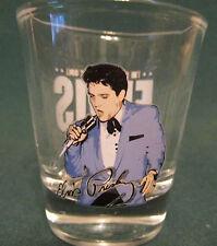 ELVIS PRESLEY  NEW SHOT GLASS   BLUE COAT