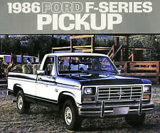 1986 FORD F-SERIES PICKUP TRUCK BROCHURE-F150-F250 HD-F350-4X4-F 150-F 250-F 350