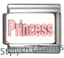 PRINCESS PINK NICKNAME DIVA Enamel Italian Charm 9mm - 1 x NC197 Single Link