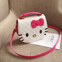 Hello Kitty Kid's Mini PU Leather Shoulder Bag Girls Handbag Crossbody Tote Gift