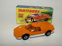Matchbox Superfast No 66 Mazda RX500 Orange, AMBER GLASS VNMIB VERY RARE
