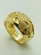 9ct Yellow Solid Gold Men's Fancy Ring