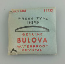 VINTAGE BULOVA PRESS TYPE DOME WRIST WATCH CRYSTAL - 28.5mm - PART# 1653S