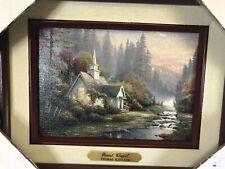 Thomas Kinkade The Forest Chapel Framed Brushwork Brandy Frame New