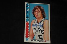 BILLY PAULTZ 1976-77 TOPPS SIGNED AUTOGRAPHED CARD #19 SAN ANTONIO SPURS