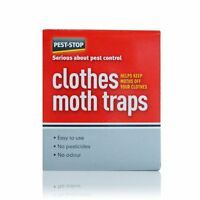 Pest Stop Clothes Moth Trap Twin Pack No Odour Easy Use Keep Moths Off Clothes