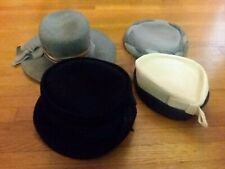 Antique Vintage Ladies Hat Lot of 4 Hats Wool Flapper Estelle's Millinery Tenn