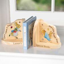 Personalised Peter Rabbit Book Ends Childrens Bedroom Nursery Room Book Shelf