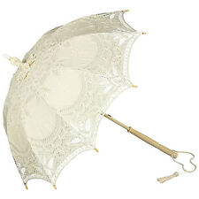 Schirm Sonne Spitze Braut Hochzeit Tracht Gewandung creme elegant Marietta 8416