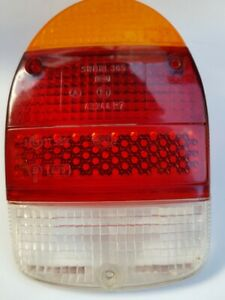 VW BEETLE Rear Indicator ,Tail / Stop / Revers Light Lens 1968 - 1973 GENUINE