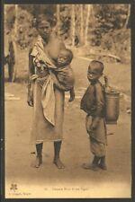 Vietnam  Vintage Postcard Saigon Topless Mother with children